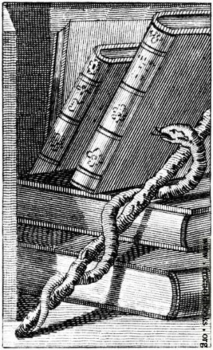Snake, Magic Wand, Leather Books from Portrait of Ebenezer Sibley